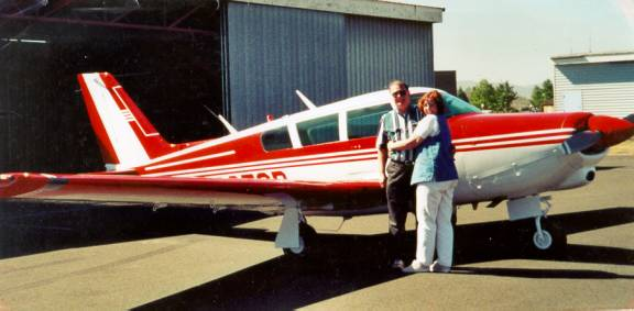 Dave and Robbie Sturm and their Piper Comanche
